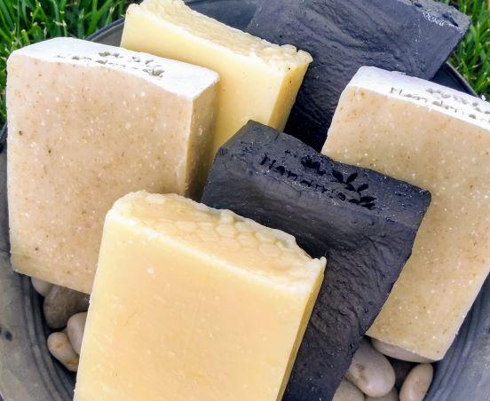 shampoo bar charcoal soap and hemp soap