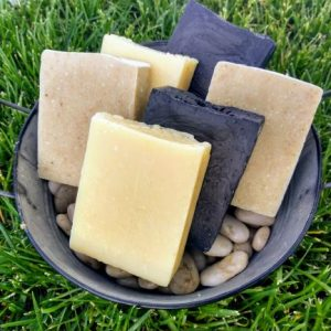 set of 6 natural homemade soap