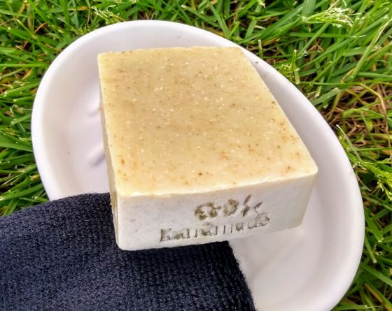 natural-soap-men-made-with-hemp-oil-on-white-soap-dish