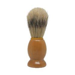 wood handle shaving brushes white background