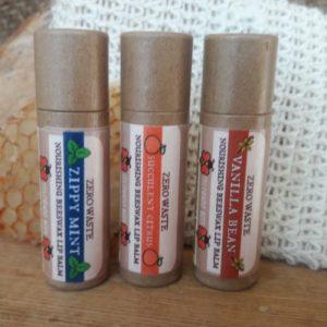 Natural Lip Balms: Zippy Mint, Succulent Citrus, Vanilla Bean