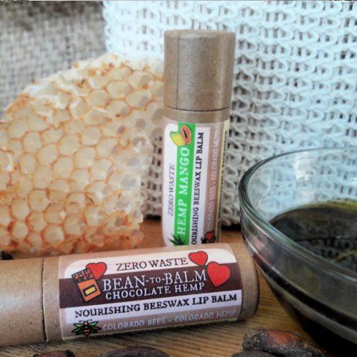 Hemp lip balms: chocolate hemp, mango hemp