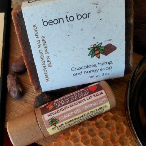 Chocolate, hemp, honey gift set.