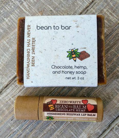 bean-to-bar local chocolate soap bar and lip balm