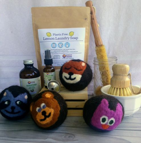 Eco home cleaning set